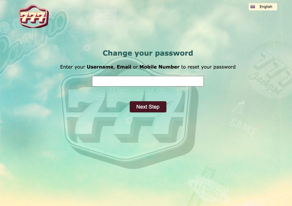 777 casino password