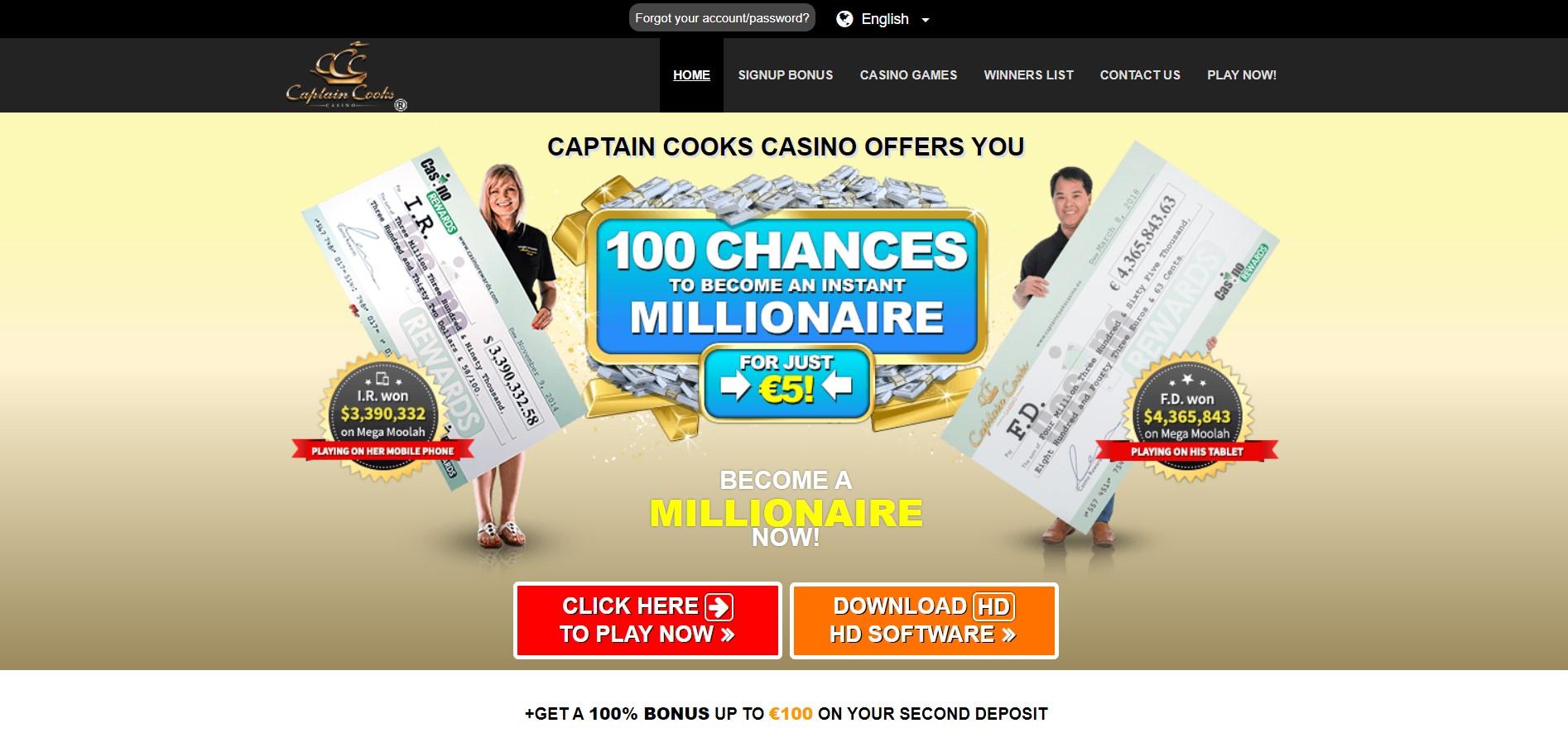 Captain Cooks Casino Registration