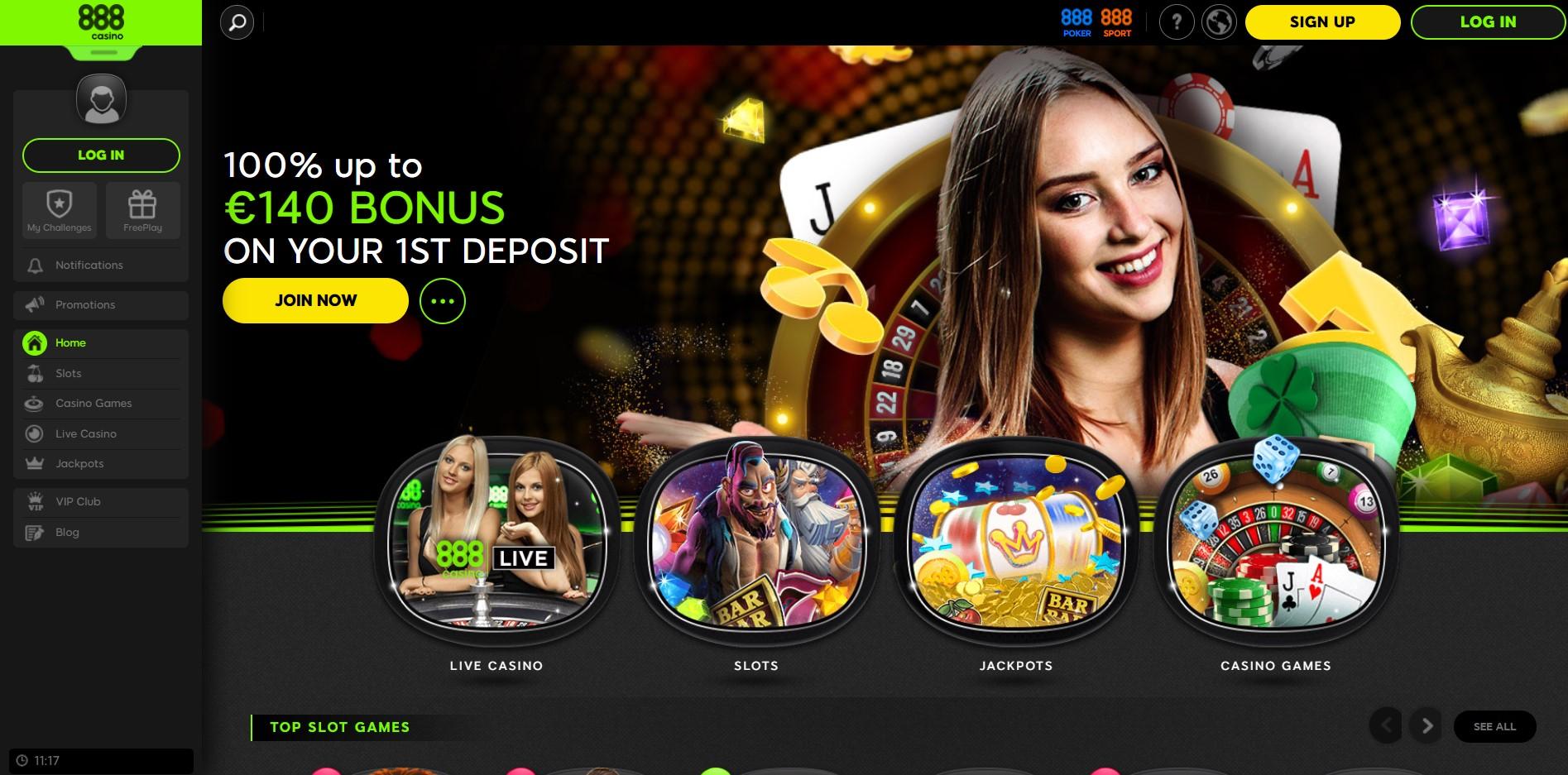 Casino 888 bonuses