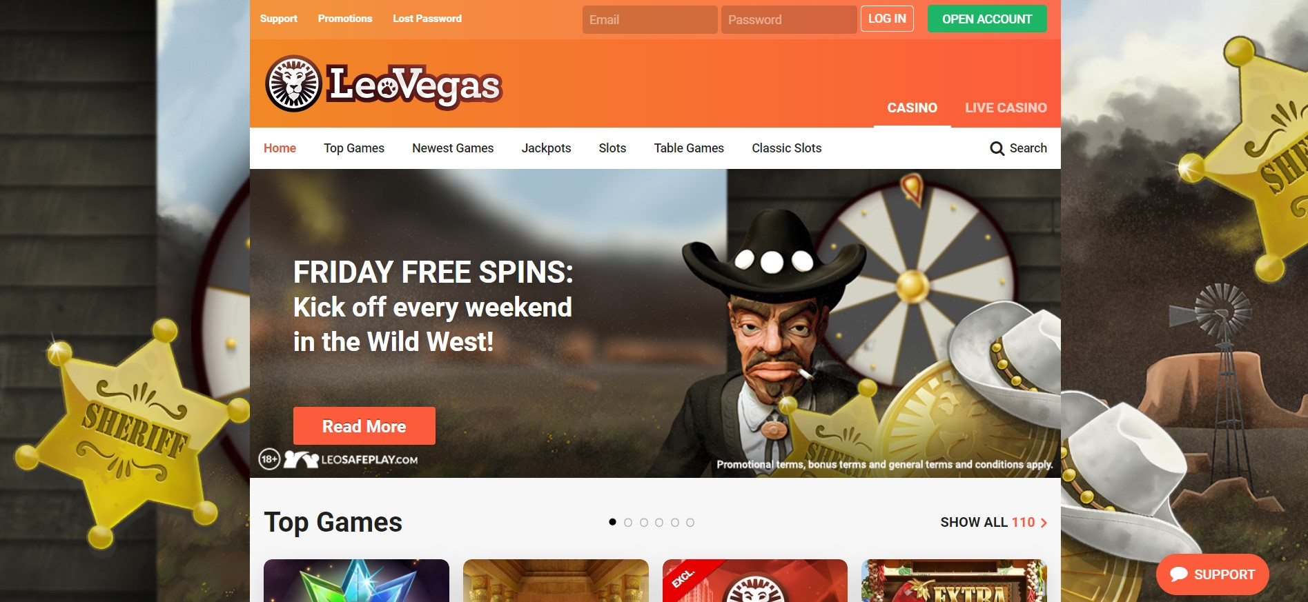 LeoVegas Casino welcome