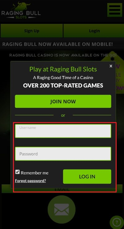 Raging Bull Casino mobile