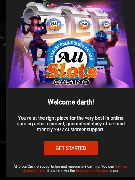 all slots casino welcome