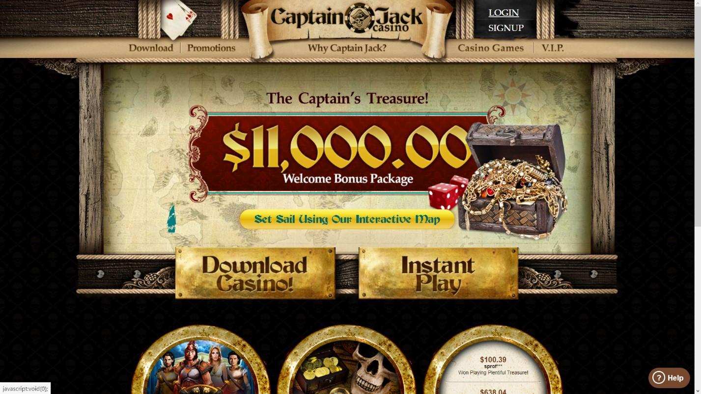 captain jack casino welcome