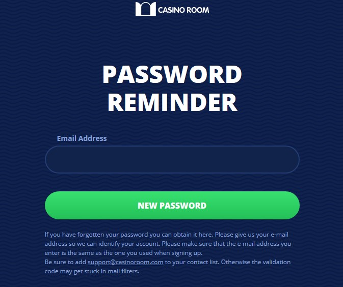 casino room password