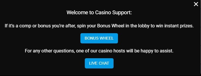lucky nugget casino support
