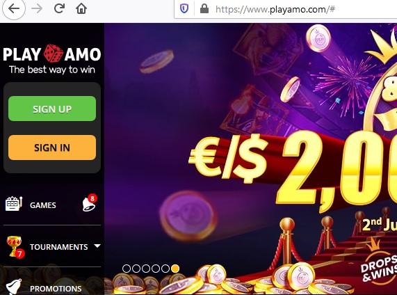 playamo casino login