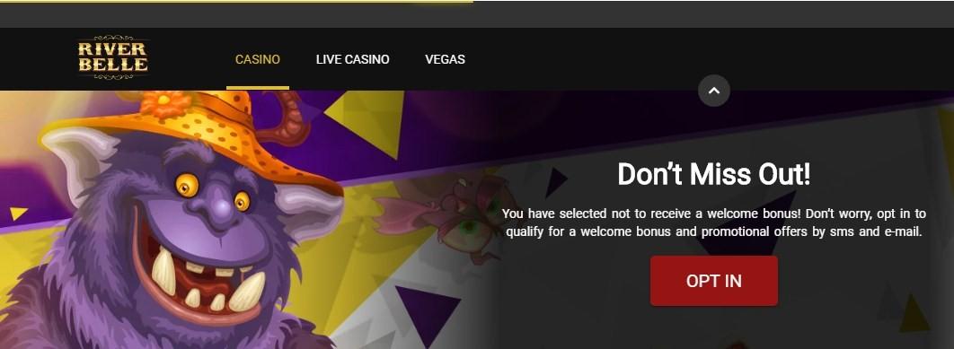 riverbelle casino welcome