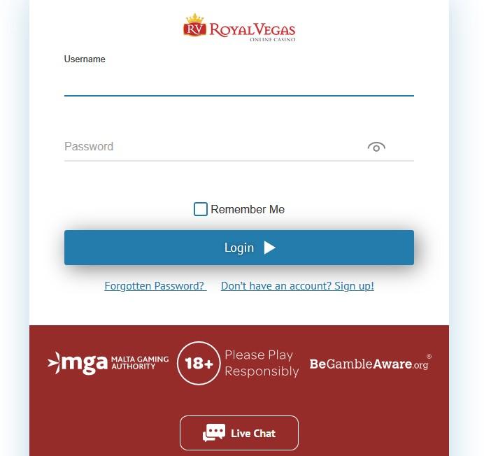 royal vegas casino sign up