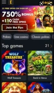 Tangiers Casino Login