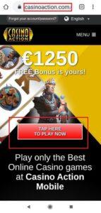 Casino Action Mobile Login