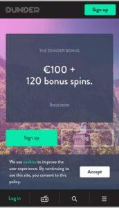 Dunder Casino Mobile Login