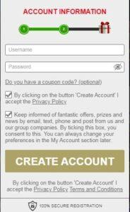 Europa Casino Account Information