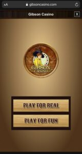 Gibson Casino Mobile Login