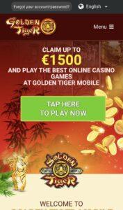 Golden Tiger Casino Mobile Login