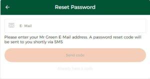 Mr Green Casino Password Recovery