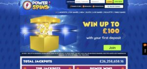 Power Spins Casino Registration