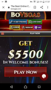Bovegas Casino Mobile Login
