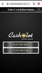 Casholot Casino Mobile Login