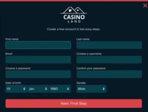 Casino Land Login