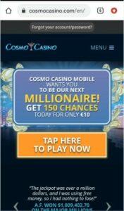 Cosmo Casino Mobile Login