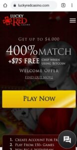 Lucky Red Casino Mobile Login