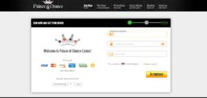 Palace of Chance Casino Register