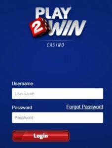 Play2Win Casino Login