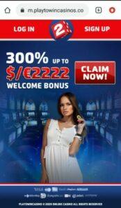 Play2Win Casino Mobile Login