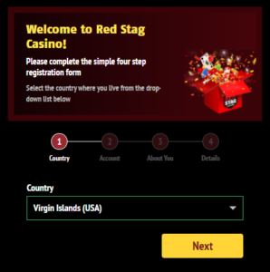 Red Stag Casino Registration