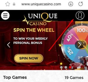 unique casino login mobile